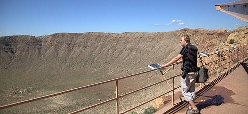 Arizona'da Dünyaya Çarpan Meteor